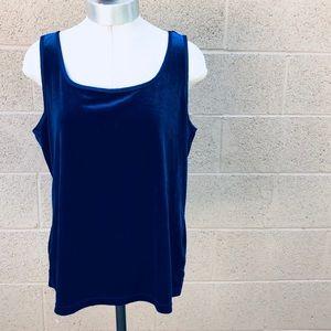 ✨Vintage✨ velvet blue tank top